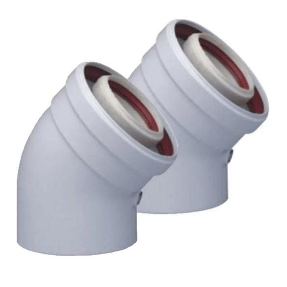 TRICOX PAKÖ602C koncentrikus könyök 45° PPs/alu 80/125mm 2db