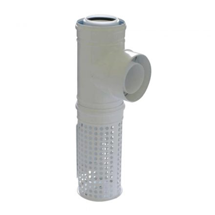TRICOX PAKT60 koncentrikus kültéri T idom levegő kosárral PPs/alu 80/125 mm
