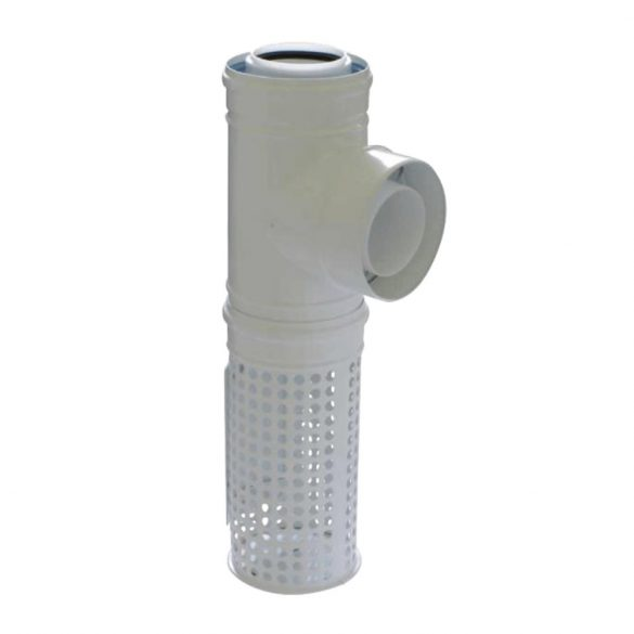 TRICOX PAKT60 koncentrikus kültéri T idom levegő kosárral PPs/alu 80/125mm