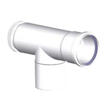 TRICOX PET20 egyfalú ellenőrző T idom PPs 80mm
