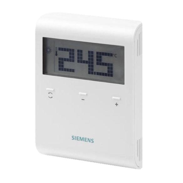 SIEMENS RDD100.1 digitális szobatermosztát, LCD kijelző, 24…250V