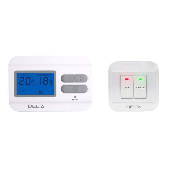 DELTA S2301 RF vezeték nélküli digitális szobatermosztát, fűtés/hűtés