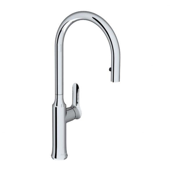 RAVAK KM 017.00 álló mosogató csaptelep, kihúzható zuhanyfejjel