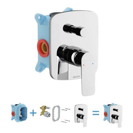 RAVAK Classic CL 065.00 falsík alatti kád csaptelep zuhanyváltóval R-Boxhoz