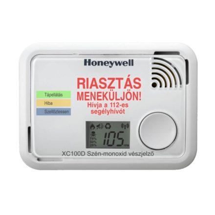 HONEYWELL XC100D-A szén-monoxid vészjelző LCD kijelzővel, 10 év garanciával